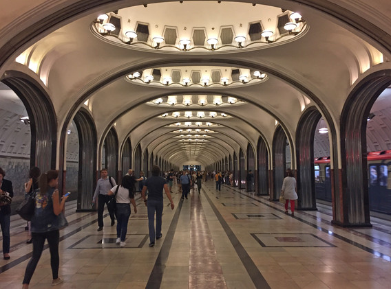 One of the many beautiful Moscow Metro subway stations