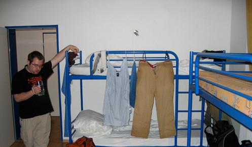 Typical low-cost German hostel dorm room