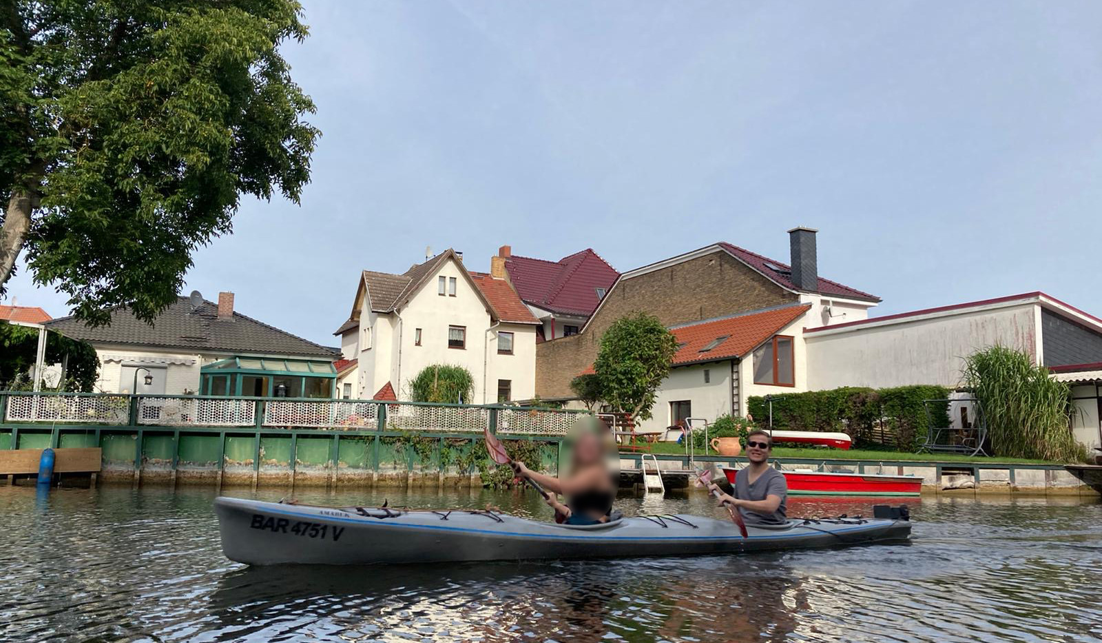 Enjoying the canals of Fürstenberg