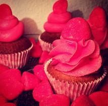 Cupcakes fraise Tagada