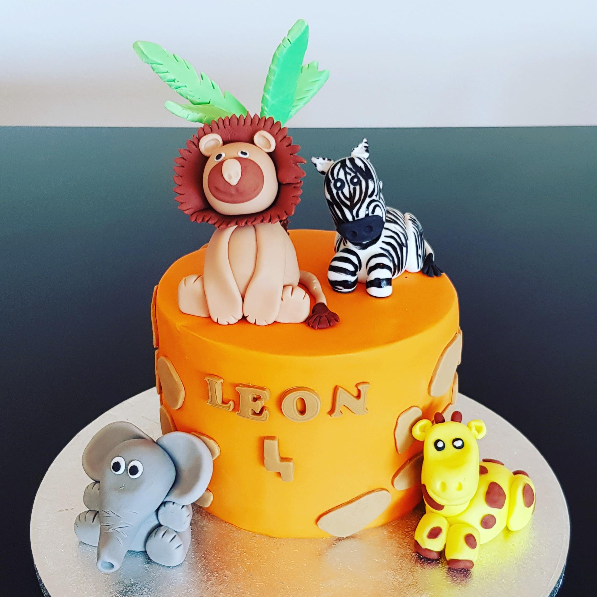 Gâteau d'anniversaire - Safari