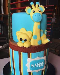 Gâteau d'anniversaire - Jungle