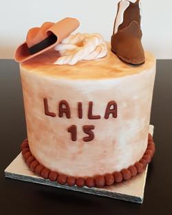 Gâteau d'anniversaire - Western