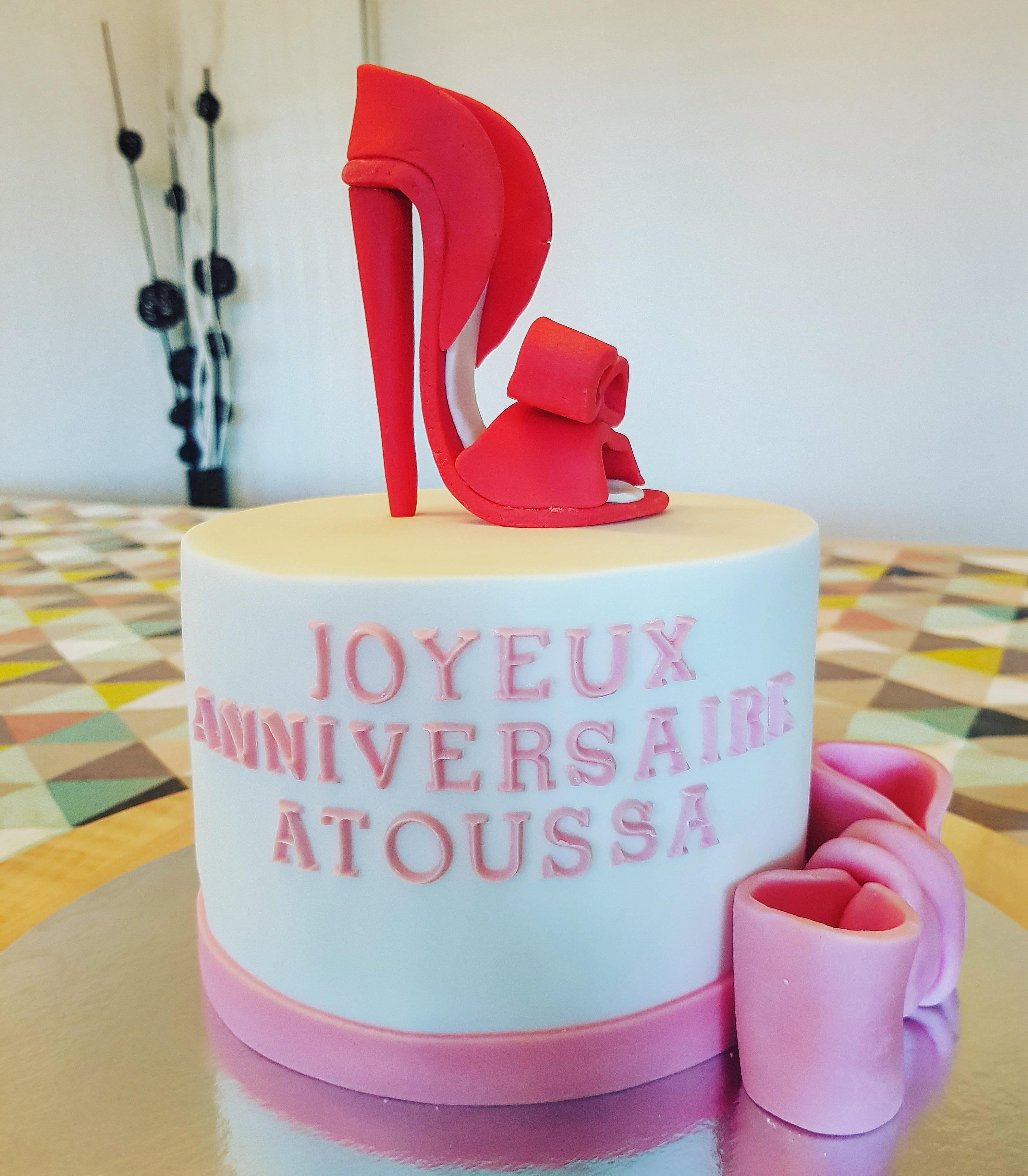 Gâteau d'anniversaire girly