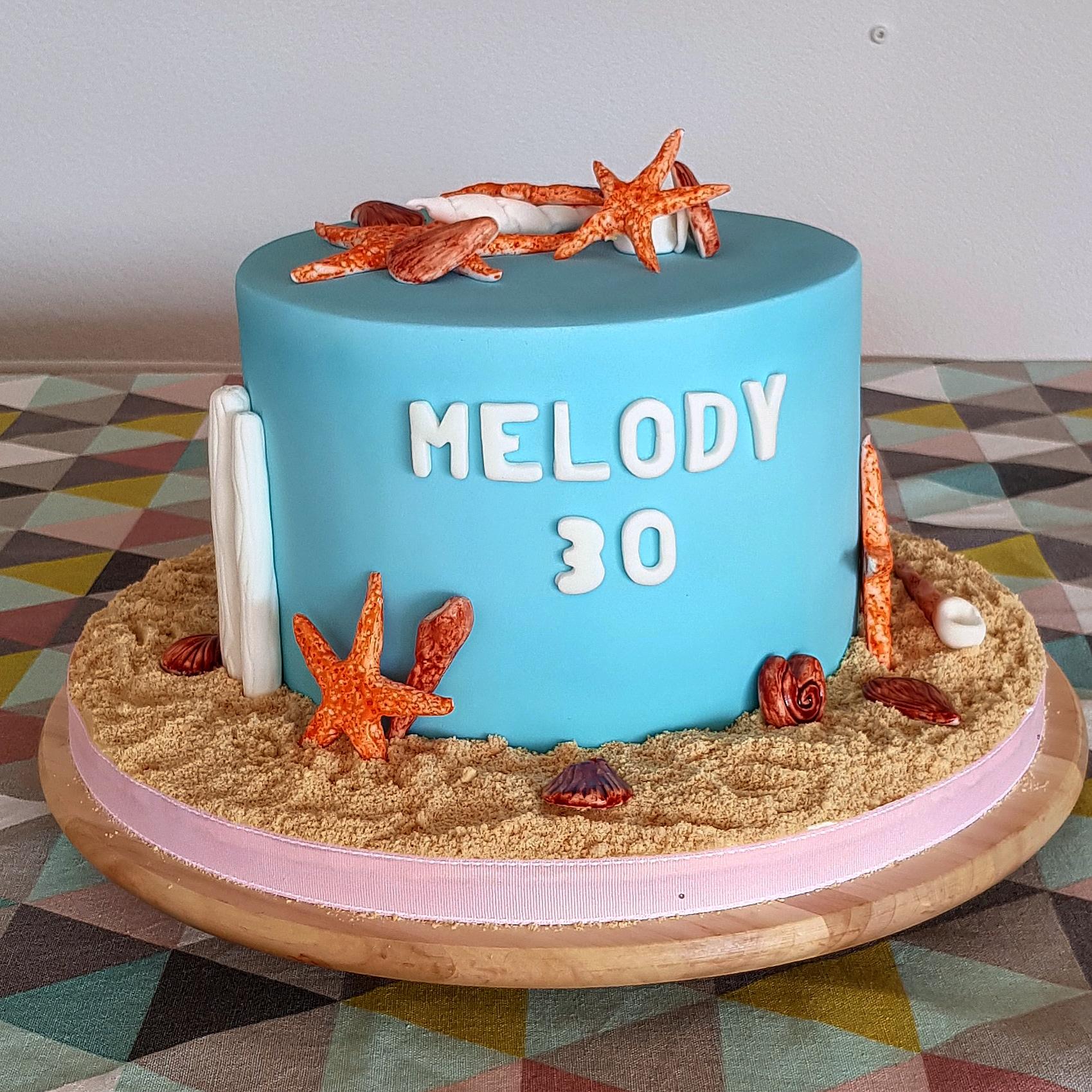 Gâteau d'anniversaire - Mer