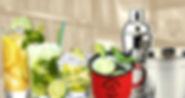 variados tipos de drinks no cantinho do frango