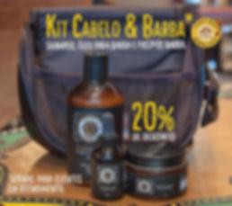 kit com shampoo, pré-pós barba, óleo para barba, pode ir em uma bolsa