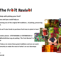 HOLMFIRTH WI – THE FRUIT REVIVAL – PLEASE SUPPORT US