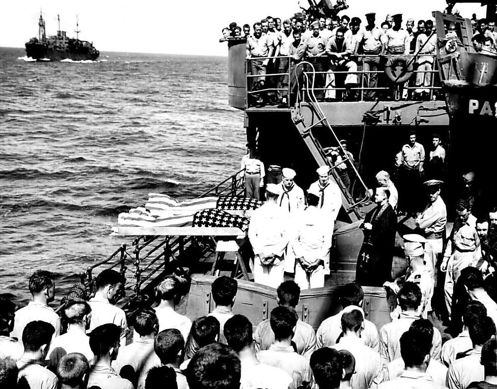 full body burial at sea military