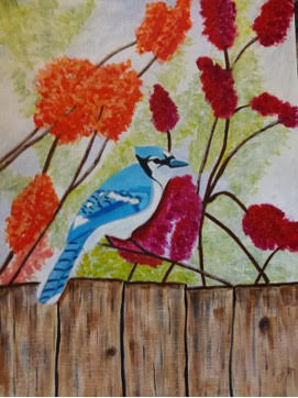 The Blue Jay - JM Creative Artistry, message from heaven