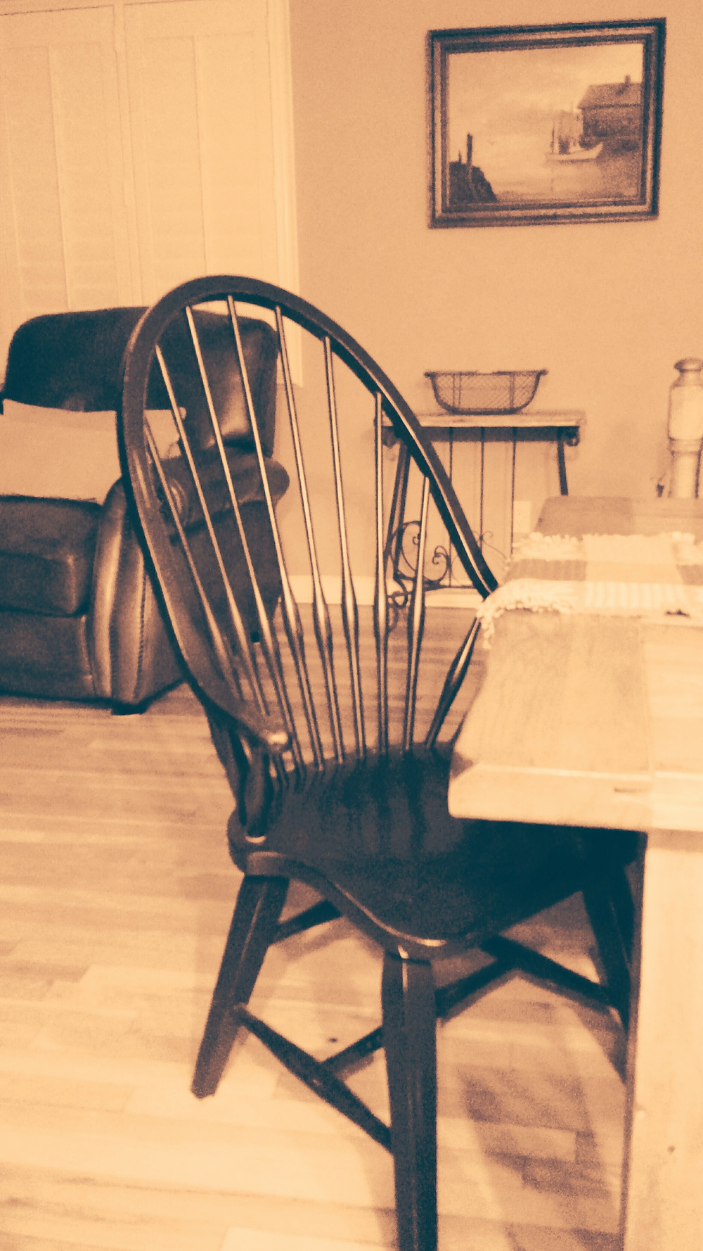 grief caused by an empty chair at a holiday table