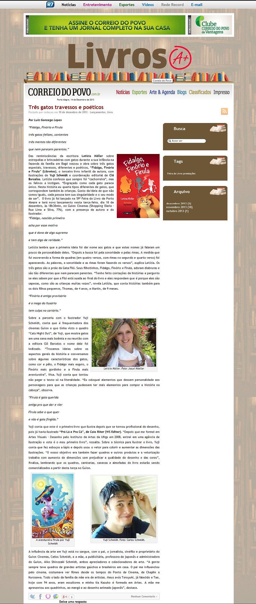 matéria_blog_Livros_A+_correio_do_povo.