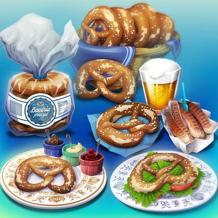 FOOD Illustrations - Bavaria Pretzel