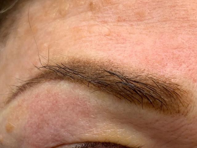 Shaded eye brows