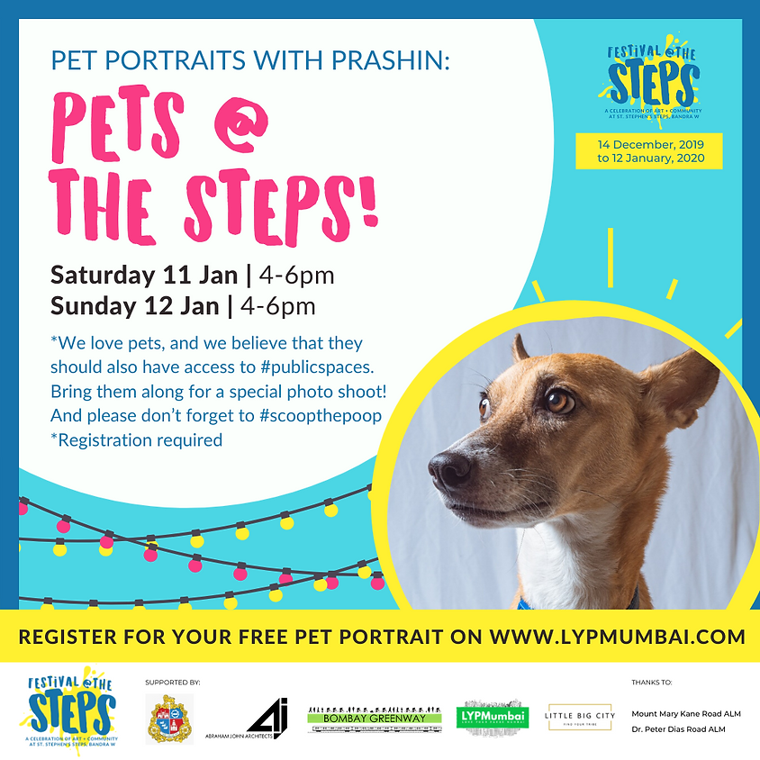 Free Pet Portraits at the Steps!