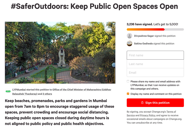 Change.org Petition Safer Outdoors