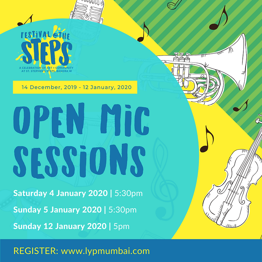 Open Mic Sessions at Festival @ The Steps