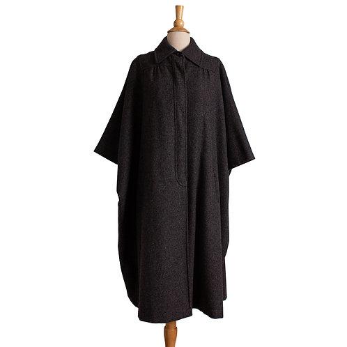 1960s/1970s Gray Wool Poncho Coat