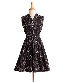 1950s Cotton Novelty Print Day Dress by Bobbie Brooks