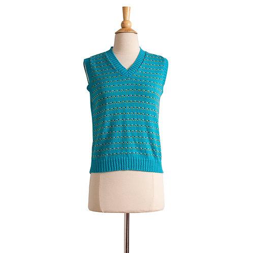 1970s Cyan Sweater Vest