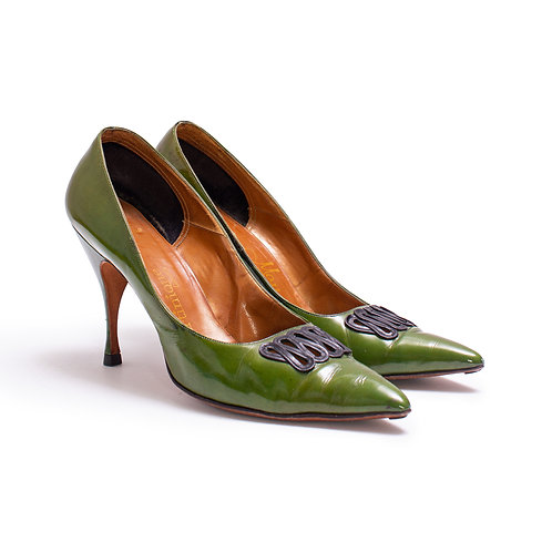 1950s Green Stiletto Pumps by Martinique