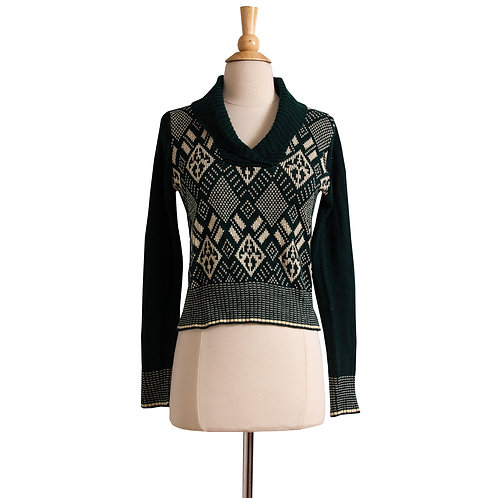 1970s Forest Green Knit Pullover