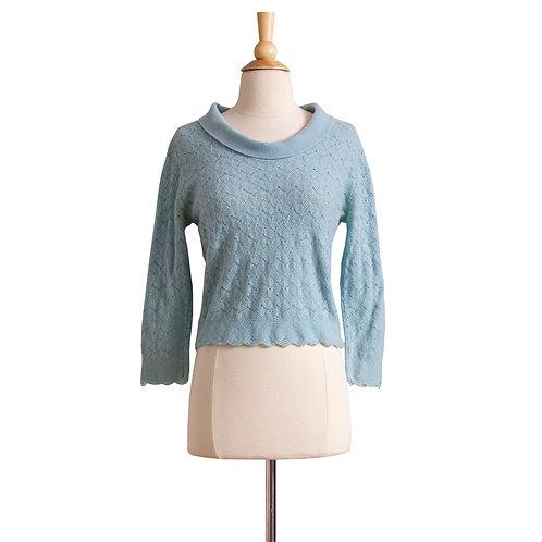 1960s Blue Cashmere Pullover by Dalton