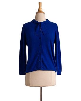 1950s Cobalt Blue Cashmere Cardigan by Braemar
