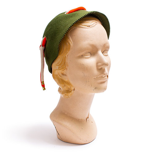 1940s Green Felt Hat