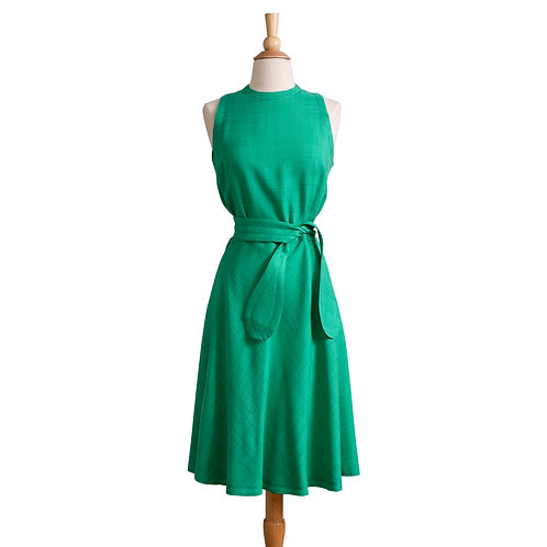 Front View of Kelly Green A-Line Dress