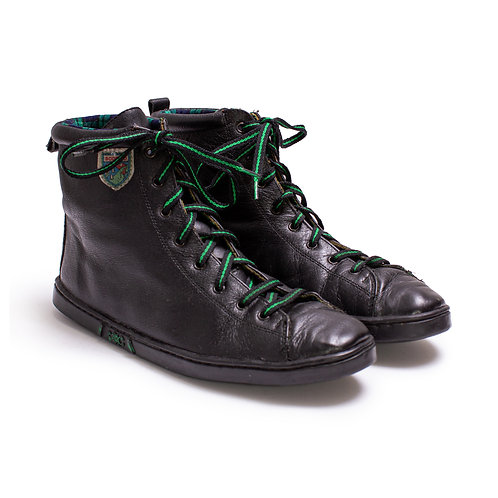 1980s Black and Green Ankle Snow Boots
