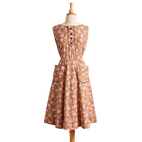 1940s/1950s Floral Cotton Day Dress by Dixie Lou Frocks