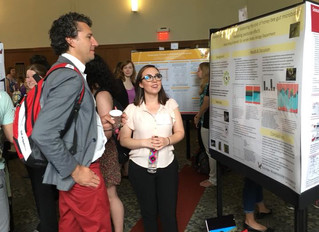 Shelby and Erin present their research at the EWU Research Symposium