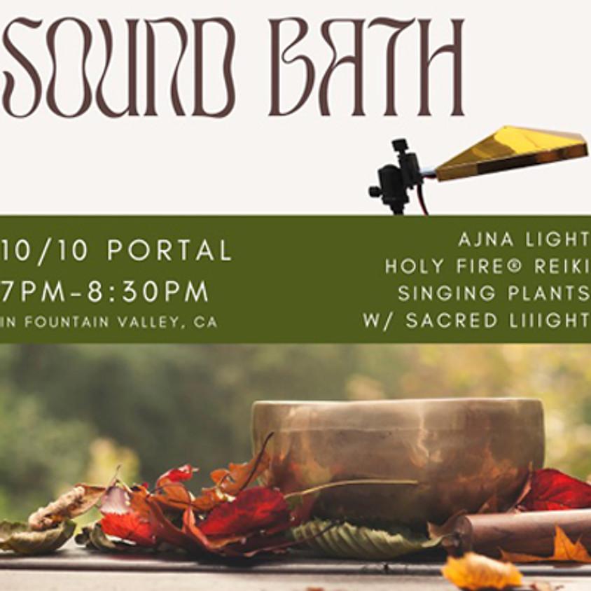 10/10 Portal Sound Bath with Ajna Light Holy Fire® Reiki