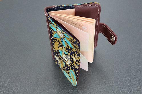 Passport Holder - Blue Teratai