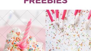 BIRTHDAY freebies. FREE stuff for your birthday♡ ♡ ♡