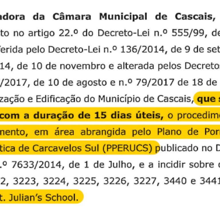 Consulta pública até 16 de Abril