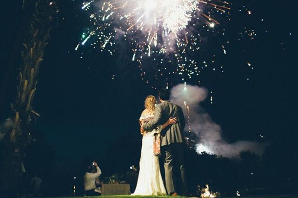 結婚 花火