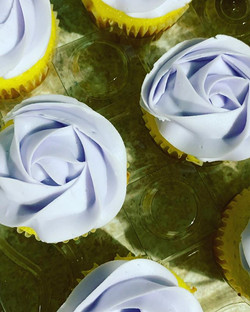 Lemon Cupcakes with Lavender infused but