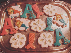 Blonde Mermaid Cookies