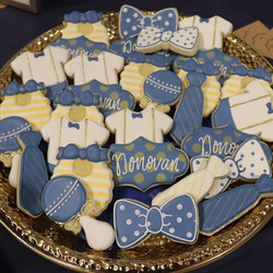 Navy & Gold Baby Shower Cookies ._._._