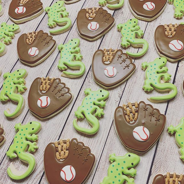Lizards 🦎 Baseball Cookies
