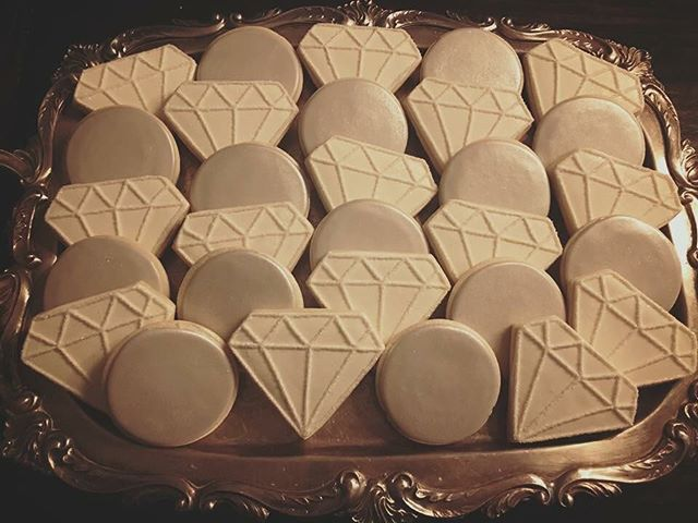 Diamonds & Pearls 💎💜💎 #diamonds #pearls #cookies