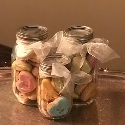 Small Jars - 10 Cookies per jar - $20.  Large Jars - 20 Cookies per jar - $35. Email info_cakesandco
