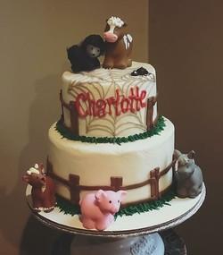 Charlotte's Web Cake #charlottesweb