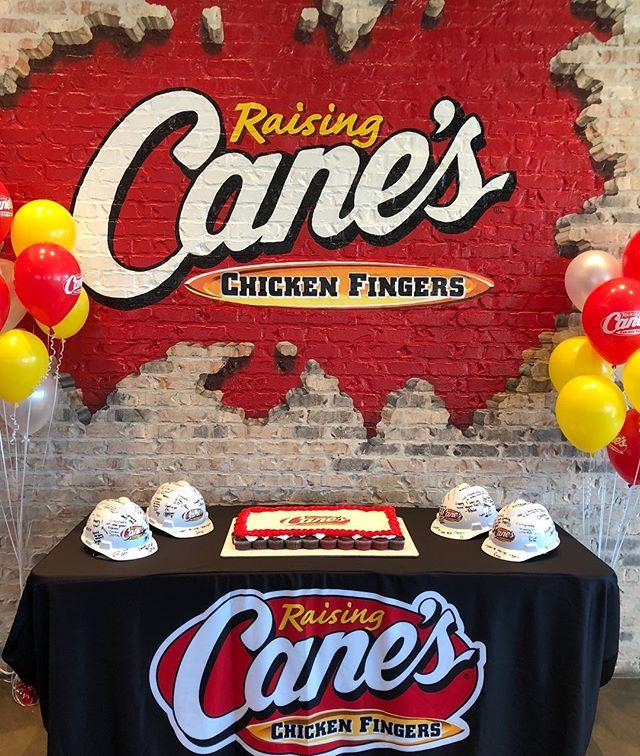 Raising Cane's Anniversary Cake