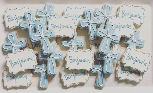 Benjamin's Baptism Cookies