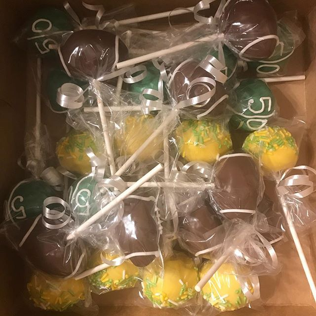 Green Bay Packers Cake Pops