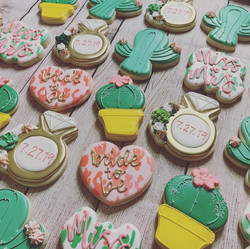 Cactus Themed Bachelorette Cookies