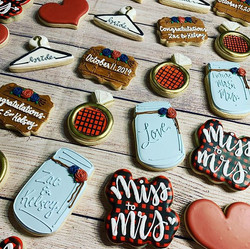 Bridal Shower Cookies for Kelsey & Zac!
